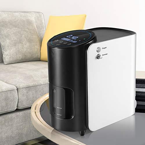 S SMAUTOP Generatore di concentratore ossigeno portatile,1-7L / min Macchina per ossigeno regolabile 90% ± 3% Macchina per purificazione dell'aria ad alta concentrazione per uso domestico