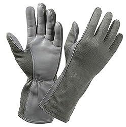 powerful RothcoNomex Flight Gloves Black Size 8