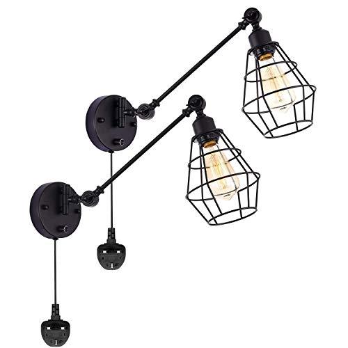 Plafondlamp Wandlamp, verduisteren Industrial Muurlampen, Vintage Style Swing Arm Lamp van de Muur, 70.87