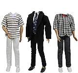 ZITA ELEMENT 3 Sets Ken Ropa Hecha a Mano - 1 Set Traje de Oficina y 2 Set Ropa Aleatoria de Ken para Muñecas de 12 Pulgadas 30 cm
