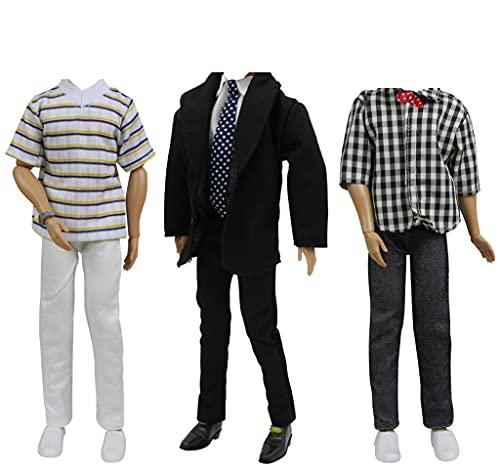 ZITA ELEMENT 3 Set Mode Beiläufig Kleidung für Fashionistas 11,5 inch Girl doll Freund 11,5 inch doll Boy Friend Puppen Kleider Mann Junge Puppenkleidung Bekleidung Oberteil Hosen