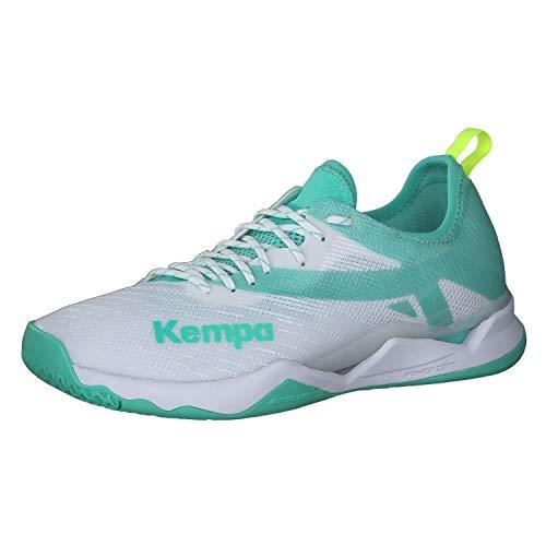Kempa Damen Wing LITE 2.0 Women Handballschuh, weiß/türkis, 43 EU