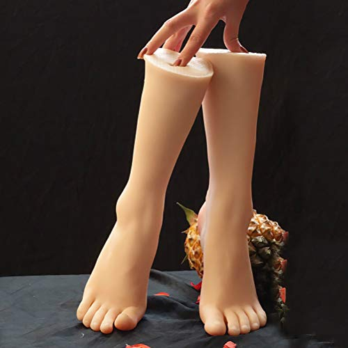 Yeah-hhi Foot Fetish Mannequin Foot Non-Toxic TPE Female Realistic Fake Foot Model for Photography Display,1 pair