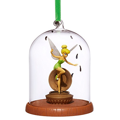 Disney Tinker Bell Glass Dome Sketchbook Ornament - Peter Pan