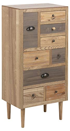 AC Design Furniture Cómoda, Roble, W: 48 x D: 32 x H: 98 cm