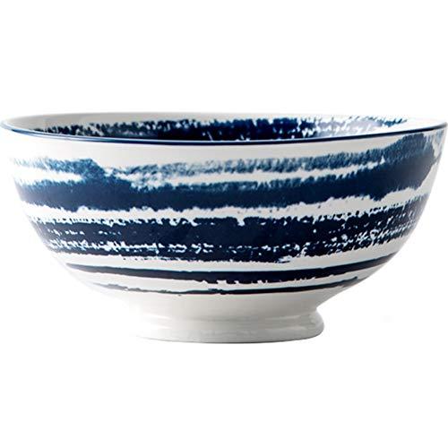 ZH Bol à céréales Vaisselle japonaise 6/8 pouces Soupe domestique Nouilles instantanées Saladier Bol en céramique (Couleur : #1, taille : 8inches)