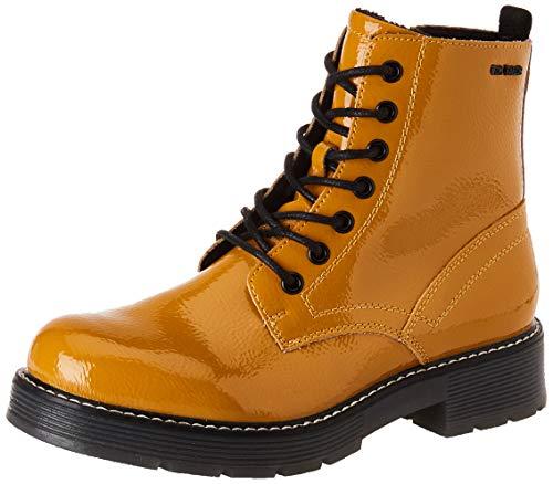 TOM TAILOR Damen 9093501 Halblange Stiefel, Beige (Curry), 39 EU