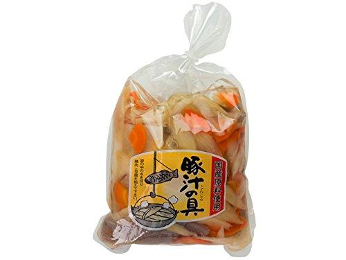 豚汁の具(国産原料使用)4種の国産素材【だいこん にんじん ごぼう こんにゃく)のみを使用した(ぶた汁用の具材)大根 人参 ゴボウ コンニャクの水煮
