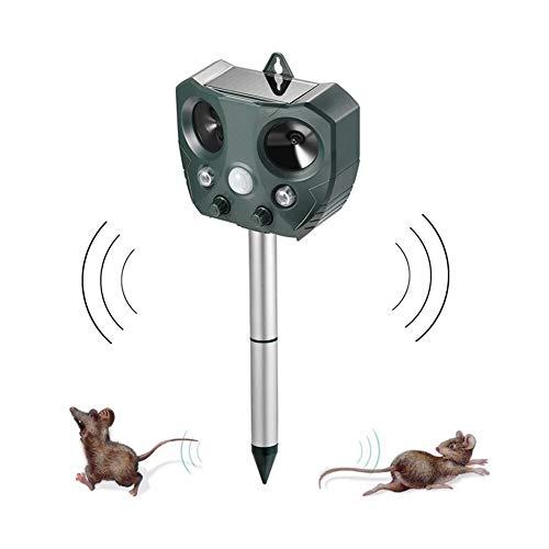 Mole Control Ultrasónica Solar Repelente de plagas, con el Sensor PIR, por plagas del Gato del Perro de Aves al Aire Libre Animal Ratón del jardín del Reflector