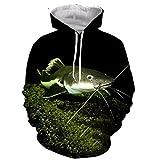Funny Cool Animal Ocean Catfish 3D Print Hombres Mujeres Sudaderas con Capucha de Moda