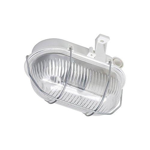 PureLed OVAL Kellerleuchte Kellerlampe Feuchtraumleuchte Grau IP44 max. 60W E27 Keller