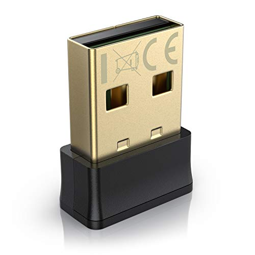 aplic - Adaptador WLAN USB AC 650 Mbits - Banda Dual 2.4Ghz 5Ghz - LAN inalámbrica - Dongle de Red WiFi - Compacto - Conector Dorado - Ideal transmisión de Video - PC y portátil con Windows 8 8.1 10