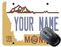 (TM)パーソナライズされたカスタム名Montana State License Plate Square Mouse Pad 18x22cm