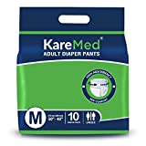 Best Adult Diapers - KareMed Adult Diaper Pants for Incontinence, Medium, Waist Review