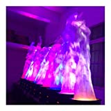 LED Fake Fire Flame 1.8m Artificial Flame 3D Simulated Flame Effect Double Blower for Halloween Christmas Festival Night Clubs (Colorful Flame)