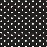 Baumwollstoff Punkte Schwarz Webware Meterware Popeline