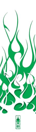 Bohning Archery Club Green & White Flame HD Standard Arrow Wrap, 12pk