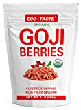 Organic Goji Berries 16oz, 100% Raw and Sun Dried, Extra Large Berries Non GMO