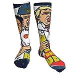 185 Calcetines De Algodón,Líder Mundial Drinking Buddies Putin Trump Kim Jong Un Gruesos Calcetines De Vestir, Creativos Y Encantadores Calcetines De Compresión Para Viajes En Bicicleta,50cm
