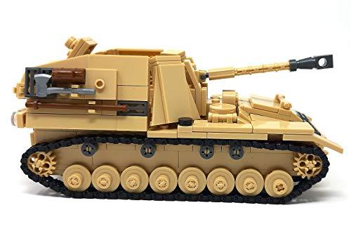 Modbrix WW2 Bausteine Panzer Jagdpanzer Sd.Kfz 164 inkl. 3 Minifiguren Soldaten