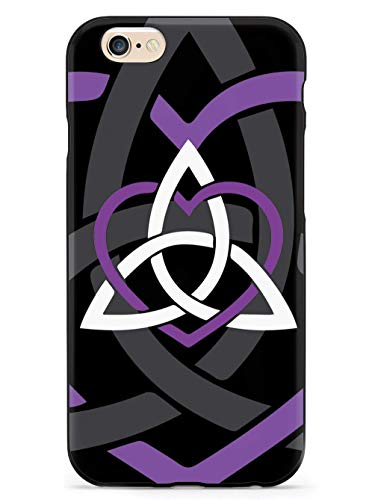 WLYing Case Compatible with iPhone 6/6s with TPU Bumper Protective Phone Case for iPhone 6/6s Celtic Sisters Knot Purple Black