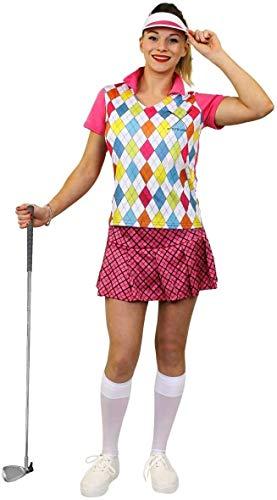 I LOVE FANCY DRESS LTD Disfraz DE JUGADORA DE Golf para Mujer COSTUMA TEMATICO DE 3 Piezas(XL)