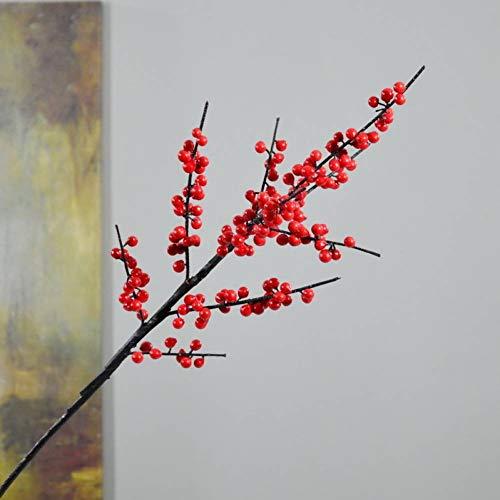 HYLZW Kunstmatige Bloem Plant Simulatie Bloem Fotografie Prop Home Decoratie Bloem Rode Bes Simulatie Hulst Fruit Nep Planten Met Pot Kunstplanten
