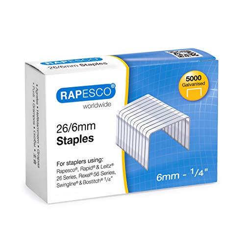 Rapesco S11662Z3 Verzinkte Heftklammern 26/6mm - 5.000 Stück