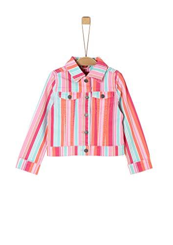 s.Oliver RED Label Mädchen Gestreifte Twilljacke pink Stripes 122