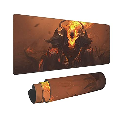 Thresh LOL League Legends Mouse Pad,LOL Large Gaming Mouse Pad,Non-Slip Rubber Table Mat and Keyboard Mat for Pc Computer