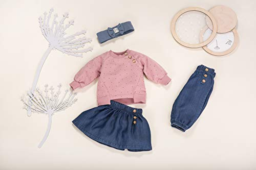 Pinokio - Petit Lou - Falda del bebé - Falda Vaquera Azul Marino - Falda para niñas - Falda Ligera para Primavera/Verano 68,74,80,86,92,98,104 cm (74 cm, Azul Oscuro)