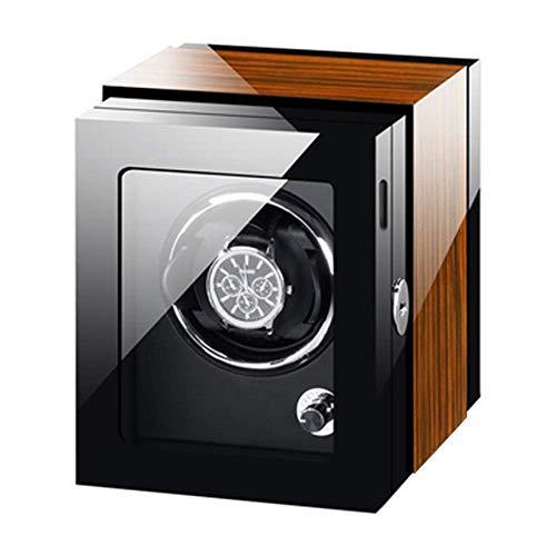 ZCYXQR Caja enrolladora de Reloj automática Pintura de Piano Almohadas de Reloj Ajustables Exteriores Ajuste de 4 Modos de rotación Motor silencioso