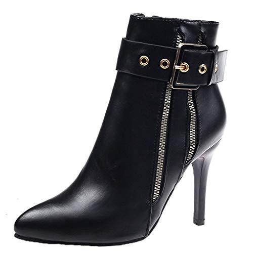 Stiefel Frauen Stiletto High Heel Pointed Knöchel Nackte Schnalle Casual Short...