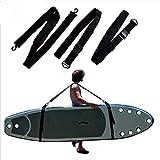 Transport Sangle, Stand Up Canoë Kayak Planche de Surf Transport Facile Unisexe Surf Accessoires Réglable Pratique Paddle Laisse Porte Durable Épaule Sling - Noir