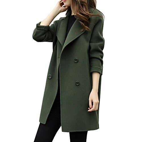 Lucky mall Frauen Herbst Winter Jacke, Lässige Outwear Strickjacke Dünner Mantel, Wollmantel Weiblicher langärmeliger Mantel