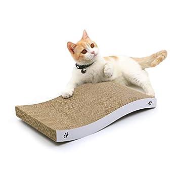 Conlun - griffoir pour Chat - griffoir Chats Carton avec Texture Scratch Premium, gratoir a Chats Durable réversible