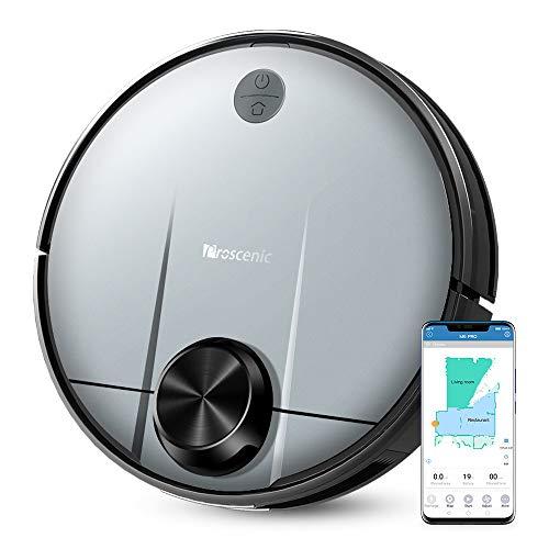 Proscenic M6 PRO Robot aspirapolvere Control con Alexa e App, Potenza di aspirazione 2600 PA, Pulizia selettiva di un'area, Grigio, 2
