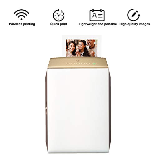 TANCEQI Mini Fotoprinter mobiele telefoon printer mobiele Pocket draadloze printer fotoprinter enkele Imaging telefoonprinter, ondersteunde JPEG, PNG