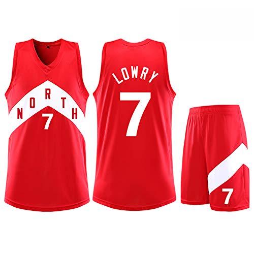 Z/A Colina Toronto Raptors Kyle Lowry # 7 Traje Ropa De Baloncesto Hombres Camiseta De Deporte Entrenar Ropa para Aficionados Niños Y Adultos Traje Chaleco Pantalones Cortos,S