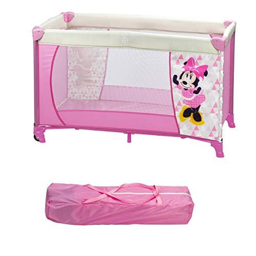 Interbaby MN009 Reisen Kinderbett Mit Rädern Disney Minnie Mouse, rosa, 2000 g, 120x60