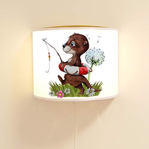 Ilka Parey Applique Murale pour Chambre d'enfant avec Otter angelt Pusteblume Lampe à Motif Lampe de Lecture Lampe pour Chambre d'enfant Ls128