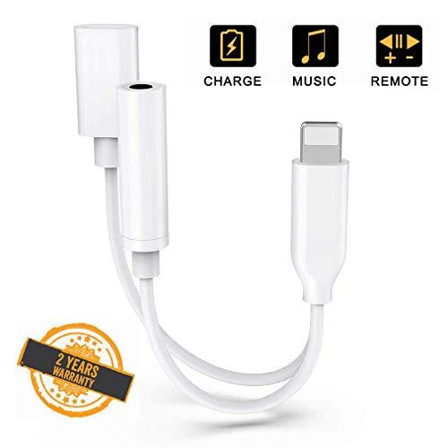 Adaptateur pour iPhone 7 Ecouteur et Chargeur...