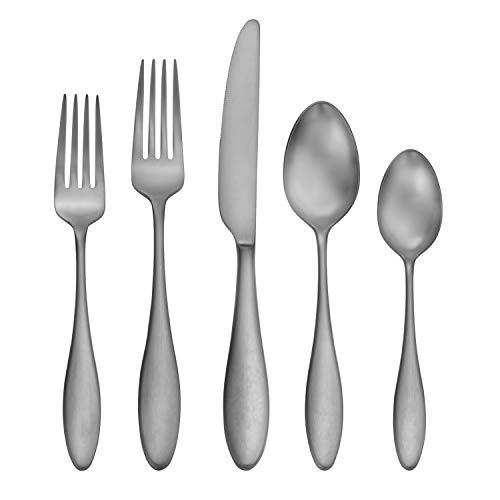 CraftKitchen Stainless Steel Flatware Sets (20 Pieces, Satin Ellie), Service for 4