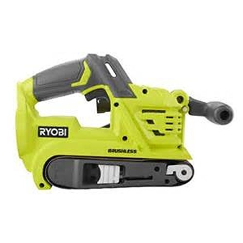 Ryobi P450 One+ 18V Lithium Ion 3 x 18 inch Brushless Belt Sander w/ Dust Bag and Included Sanding Pad (Battery Not Included, Tool Only)