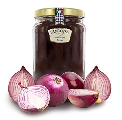 Luccini Mostarda Handwerk Zwiebeln, 2 kg, Mostarde – Früchte höchster Qualität