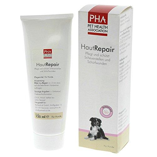 PHA Hund, Pflege und Schutz bei Scheuerstellen und Schürfwunden, Salbe, HautRepair, 125 ml