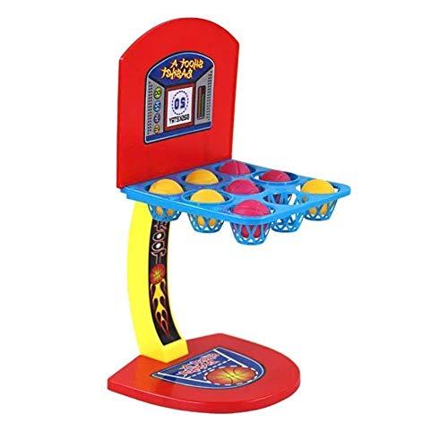 YLJYJ Pesca, Baloncesto, Mesa, Baloncesto, Escritorio, máquina de Tiro, Juego, uno o más Jugadores, Juego, Juguetes para niños (Color: Rojo, (Juegos de Escritorio)