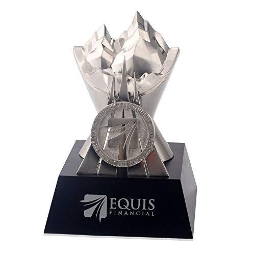 LBSST Trofeo creativo de peltre para decoración de manualidades de metal, pintura personalizada, trofeo de madera maciza, decoración para el hogar o