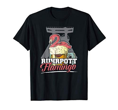 Ruhrpott Flamingo Lustiges Ruhrgebiet Taube Bier Geschenk T-Shirt