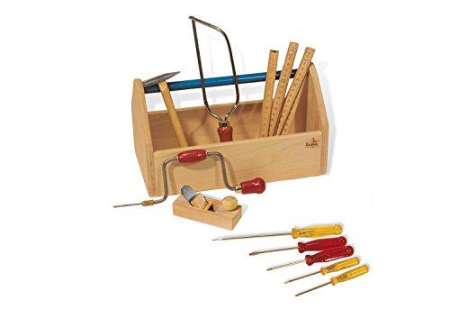 Pinolino 222317 - Werkzeugkiste mit Werkzeug